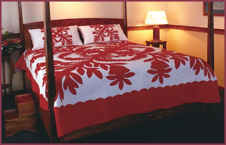hawaiian quilt bedspread 2